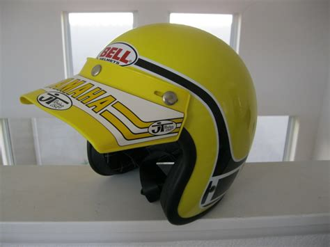 old motocross gear vintage bell team yamaha replica helmet