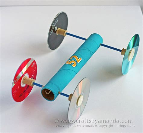 Rubber band car fun family crafts