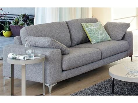 Vue Essentials Abbey Sofa 3 Seater In Grey Fab Home