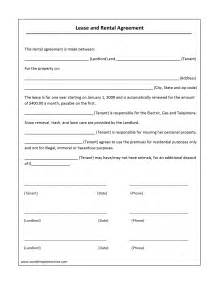 Simple Car Rental Agreement Template Word Lease Agreement Template Free Microsoft Word Templates