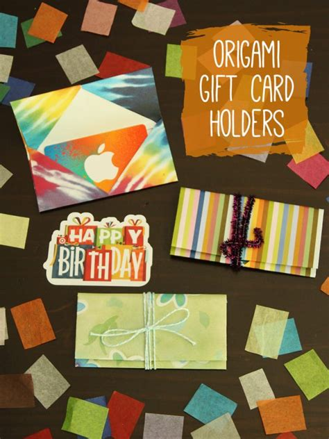 Origami Gifts To Make - origami gift card holders make and takes