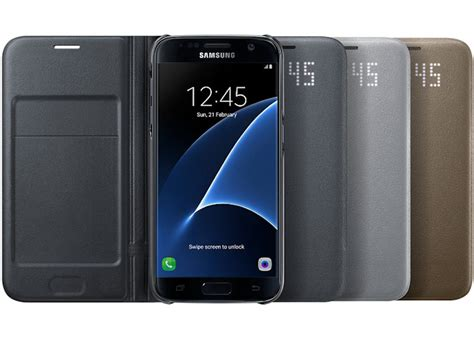 Samsung Galaxy Led Flip Wallet Original digitalsonline samsung galaxy s7 flip led wallet ef ng930pb original zwart