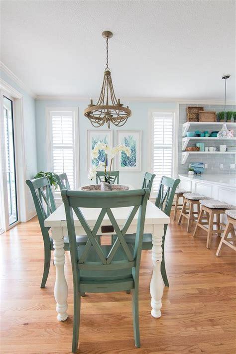 blue  white coastal dining room green dining room