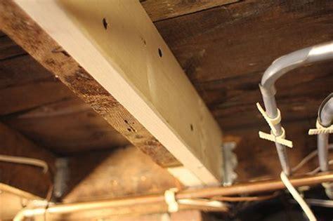 Repair Sagging, Cracked or Broken Floor Framing. By Rob