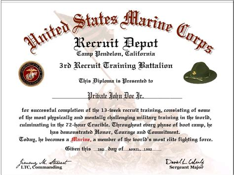 boot c certificate template pin nco creed marine on