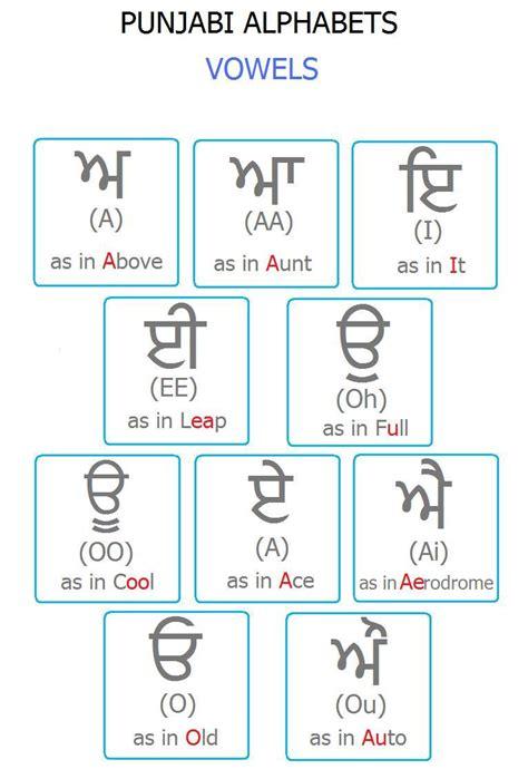 printable punjabi alphabet flash cards punjabi alphabets chart with hindi new calendar template