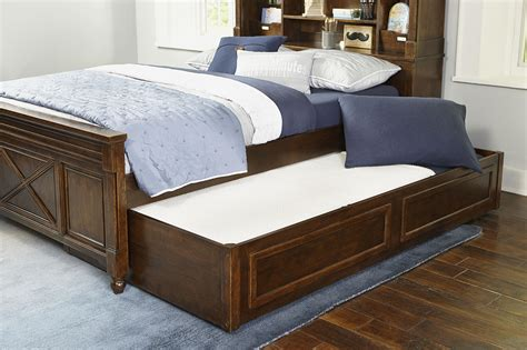 full bed with trundle and storage full bookcase bed with trundle storage drawer by legacy