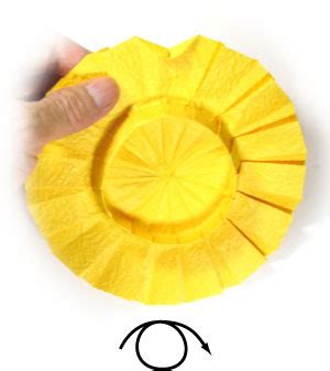 Origami Sunflower Step By Step - how to make an origami sunflower page 9