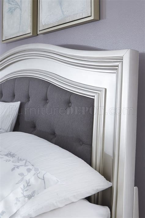 Coralayne Silver Bedroom Set by Coralayne B650 Bedroom In Silver Finish By Furniture