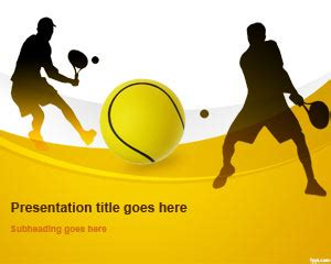 Free Tennis Ball Powerpoint Template Tennis Powerpoint Template