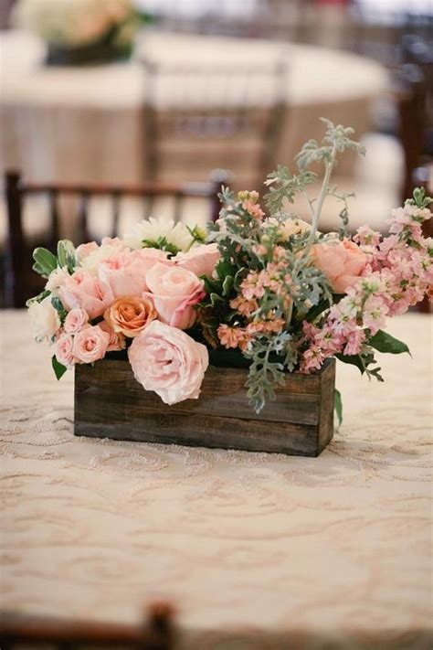 rustic centerpieces centerpieces and blush on pinterest