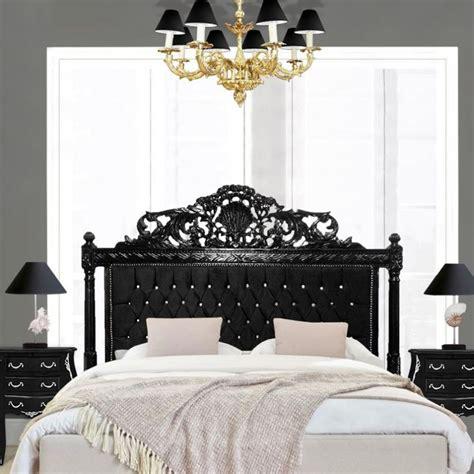 Black Wood Headboard Baroque Bed Headboard Black Velvet With Rhinestones And Black Wood