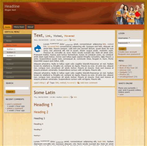 themes drupal download free web templates itkitab