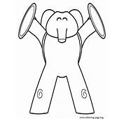 Pocoyo  Elly Playing Cymbals Coloring Page