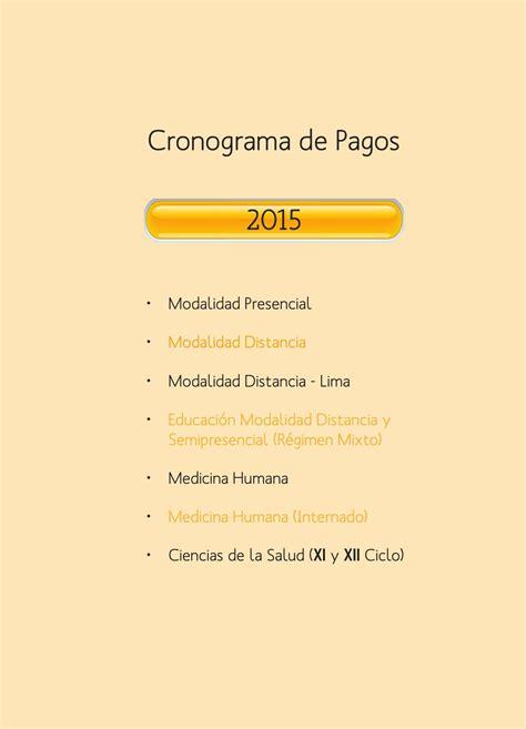 java para pago referenciado 2015 cronograma de pagos 2015 by universidad peruana los andes
