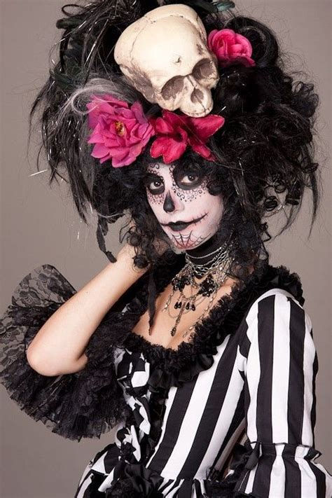 The Witch Day black witch doctor day of the dead skull wig doctors day