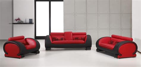 red and black living room furniture vig furniture contemporary 2811 red and black bonded