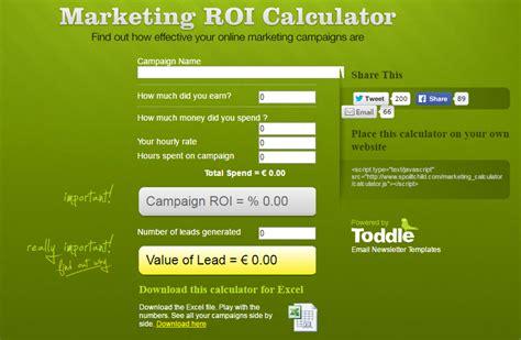 marketing roi template 19 calculators for ecommerce