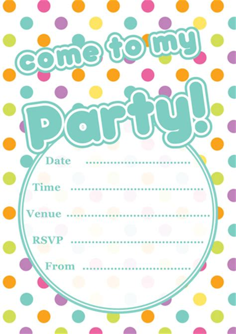 free printable birthday invitations templates for free printable polka dot invitations template