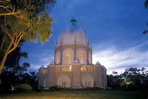 Baha I House Of Worship by The Australian Baha I Temple At The Spirit Of