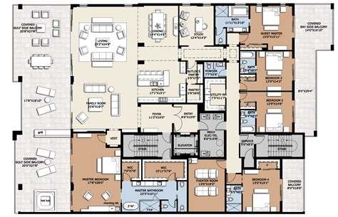 luxury penthouse floor plan design decoration