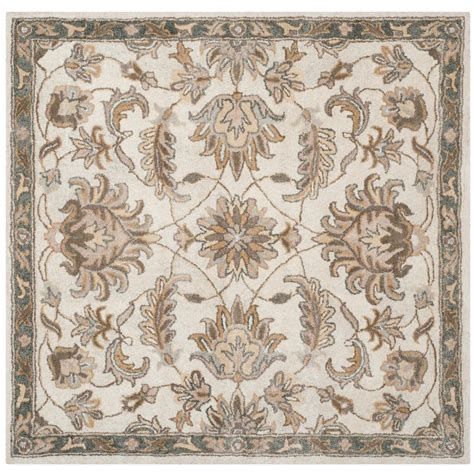 5 ft area rugs safavieh ivory multi 5 ft x 5 ft square area rug bel924a 5sq the home depot