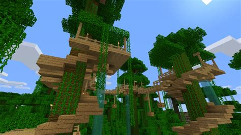 Minecraft Tree House by Jungle Tree House Survival Minecraft Project