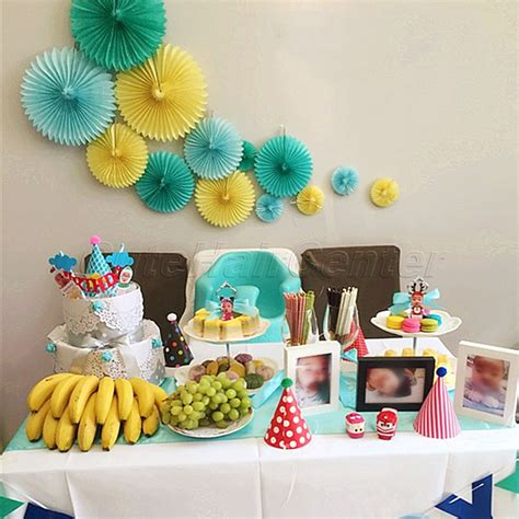 baby welcome home decoration new 5pcs tissue paper fan diy crafts hanging wedding