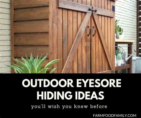 awesome diy outdoor eyesore hiding ideas beautify garden