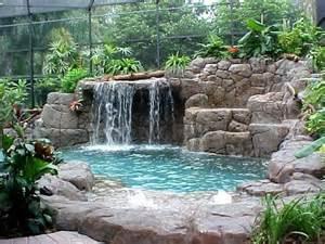 small backyard waterfall cool swimming pools ideas