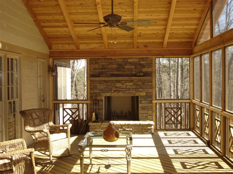 fireplace on screened porch outdoor fireplace on screened porch archadeck
