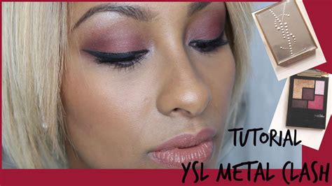 eyeshadow tutorial ysl yves saint laurent couture metal clash fall 2015 palette