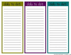 Printable Daily To Do List Template Blank To Do Checklist Template Printable Daily To Do List