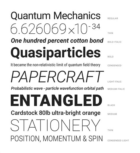 different fonts for android typography materialize