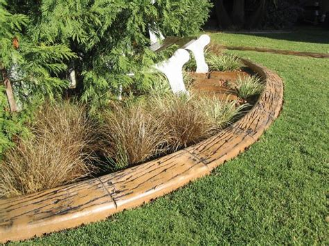 Timber Garden Edging Ideas Mr Adam Design Your Landscape Railroad Ties