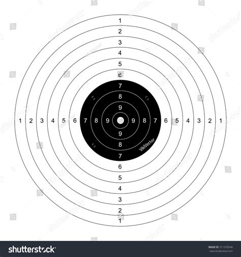 Blank Template Sport Target Shooting Competition Stock Vector 311270540 Shutterstock Shooting Target Template