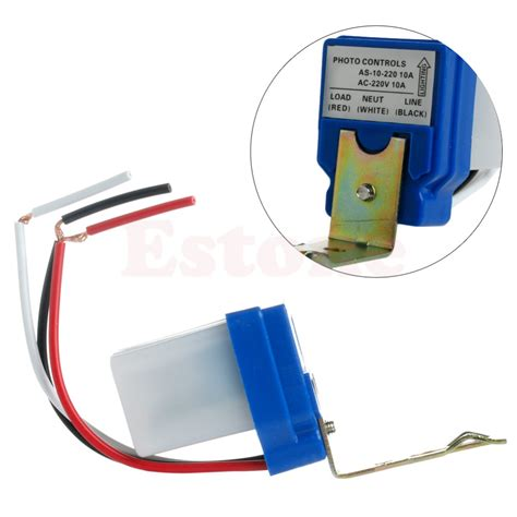 Photo Sensor 220volt 10a Or Home Lighting 1pc ac 220v 10a auto on photocell light photoswitch sensor switch y103 in switches