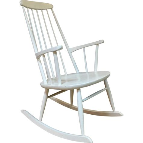 Rocking Chair Design Scandinave by Rocking Chair Scandinave Blanc En Bois 1960 Design Market