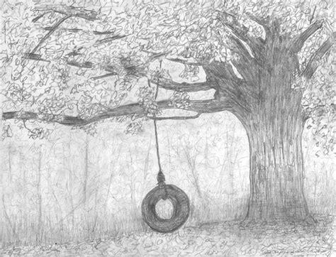 Tire Swing And An Old Tree By Luisdent On Deviantart