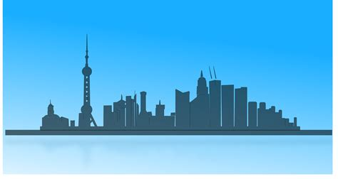 Shanghai Clip clipart shanghai city skyline