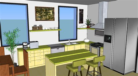 google sketchup kitchen design oreos design portfolio sketchup kitchen