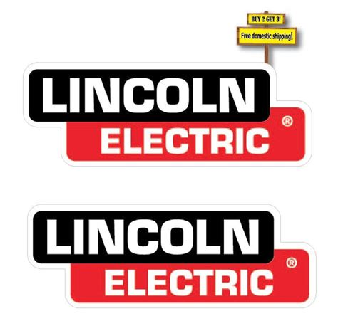 lincoln welder stickers pair of 2 lincoln electric decals 3x8 5 replacement