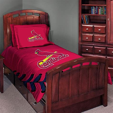 bed bath and beyond st louis mlb bedding and room accessories st louis cardinals