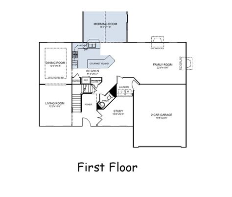 ryan home plans our first home build floor plans courtland model by