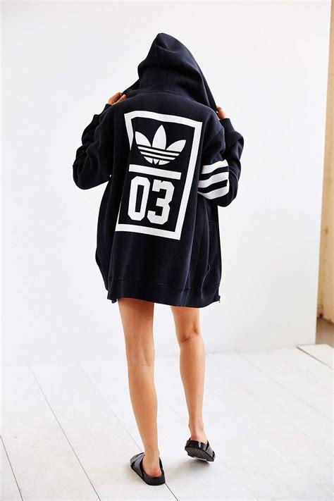 Sweater Hoodie Zipper Adidas Trefoil Polyflex adidas trefoil zip up hoodie soletopia