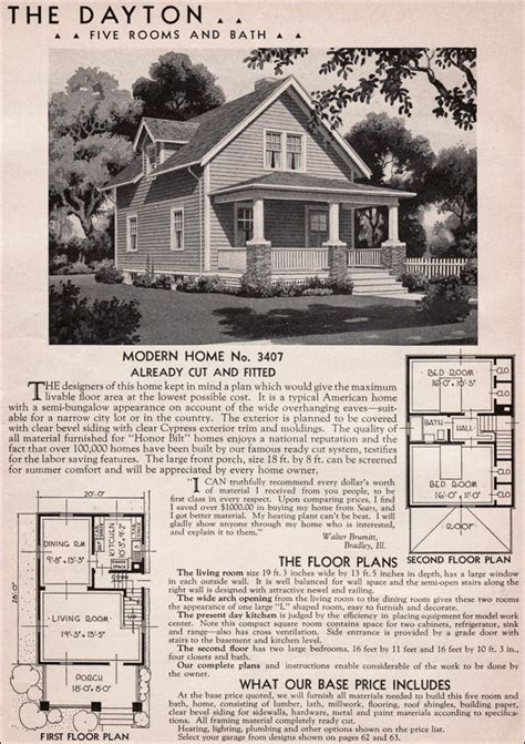 sears kit homes floor plans 1936 sears kit house dayton what a cute craftsman