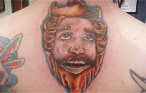 burger tattoo bad tattoos they don t stop 9 more of the worst