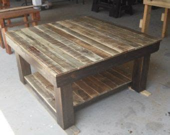Farmhouse Reclaimed Wood Coffee Table Square By How To Build A Wooden Coffee Table