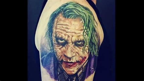 joker tattoo youtube mirage custom tattooing heath ledger quot the joker quot tattoo