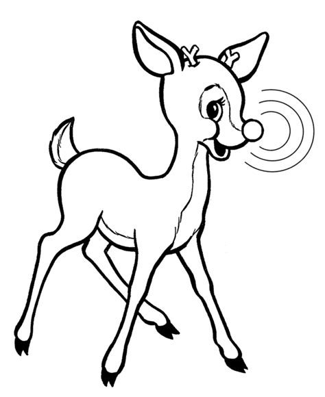 coloring page rudolph reindeer rudolph the red nosed reindeer coloring pages az
